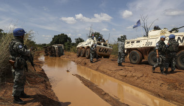 UNMISS integrated team convoy traveled to Mundri