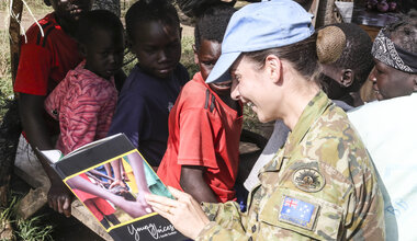 UNMISS protection of civilians displaced civilians peacekeepers South Sudan peacekeeping education Australia