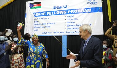 UNMISS reconciliation Peace Fellows Government South Sudan peacekeepers peacekeeping peacebuilding