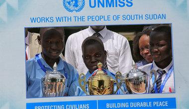 "Essay winners in Juba: ""If men can make good presidents, maybe women can make better presidents"""