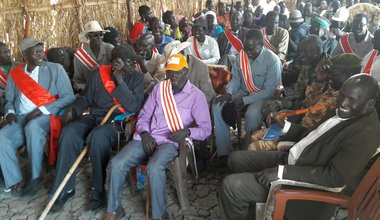 A model for peace: Residents of Gel Achel in Upper Nile rise above tribal differences