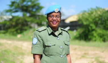 UNMISS 2020 UN Woman Police Officer of the Year Doreen Malambo Zambia UNPOL South Sudan