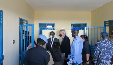 unmiss unpol quick impact projects police south sudan police service yei checkpoint healthcare juba capacity building united nations un peacekeepers