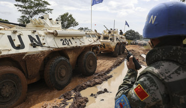 Chinese Peacekeepers rescue stranded trucks on remote roads in South Sudan