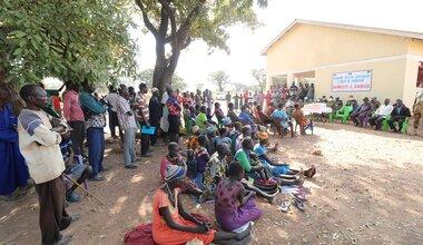 unmiss south sudan wau bangladesh peacekeepers hand over medications school material