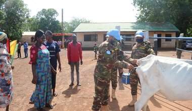 UNMISS protection of civilians veterinary Bangladesh peacekeepers South Sudan peacekeeping Wau medicines animals livestock