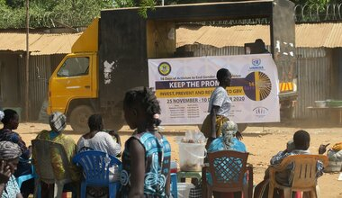 unmiss south sudan juba 16 days of activism against gender-based violence promo truck women disability hiv human rights