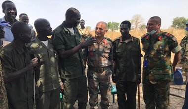 UNMISS protection of civilians displaced civilians peacekeepers South Sudan peacekeeping Rwanda Blue Beret Bunj Upper Nile Force Commander