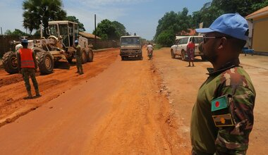 unmiss south sudan western equatoria state yambio road repair work economic boost feeder roads agriculture trade
