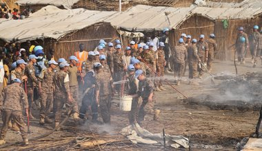 UNMISS team saves lives by swiftly containing fire outbreaks in Bentiu protection site