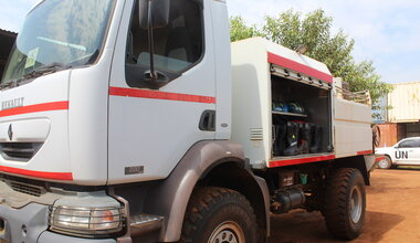 unmiss south sudan srsg david shearer fire truck a4p juba