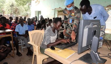 unmiss south sudan malakal indian peacekeepers computer skills primary school future-proofing