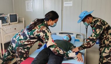 UNMISS International Day of UN Peacekeepers COVID-19  South Sudan Peacekeepers Nepal Doctor
