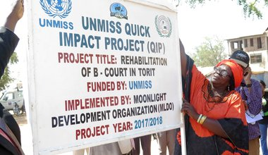 Historic meeting place in Torit to be rescued by UNMISS Quick Impact project
