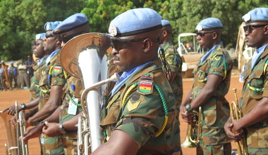 unmiss south sudan aweil ghana medal parade ceremony peacekeepers