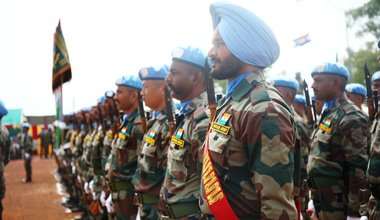 India medal parade peacekeepers UNMISS South Sudan protection of civilians 29 June 2018