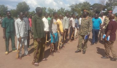 south sudan unmiss inspection cantonment site sue yambio child soldiers abducted women opposition forces