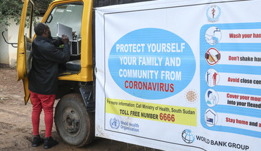 unmiss south sudan juba protection of civilians COVID-19 precautions WHO coronavirus social distancing outreach sensitization