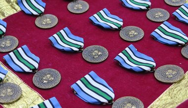 unmiss unpol medal parade nepal south sudan police peace security united nations un peacekeeping