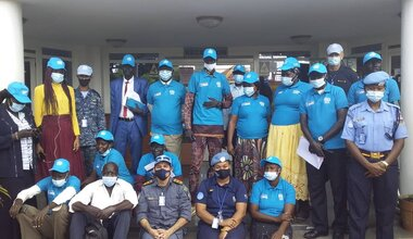 UNMISS protection of civilians displaced civilians UNPOL community policing South Sudan National Police Service peacekeepers South Sudan peacekeeping law enforcement police rule of law