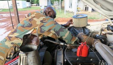 unmiss aweil northern bahr el ghazal united nations medal parade peacekeepers peacekeeping ghana