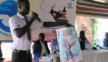 UNMISS protection of civilians peace day debate students revitalized peace agreement Aweil Northern Bahr El Ghazal unmiss united nations peacekeeping peacekeepers