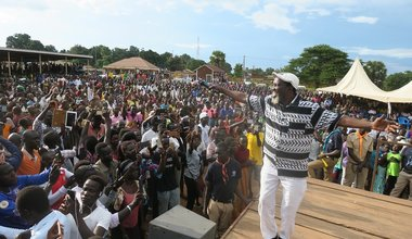 unmiss south sudan yei peace concert one peace one people emmanuel kembe local artists