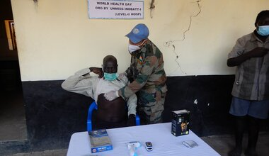 South Sudan UNMISS Global Goals World Health Day Malakal COVID-19