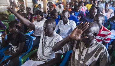 Local actors help explain UN mandate to internally displaced South Sudanese people