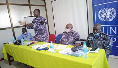 UNMISS protection of civilians displaced civilians peacekeepers South Sudan UNPOL law and order police community relations