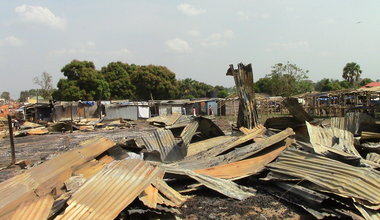 A market in Yei razed burnt to the ground