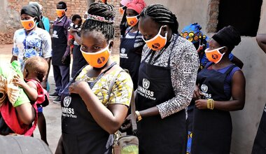 unmiss south sudan yambio western equatoria gender covid-19 face masks political representation female participation women