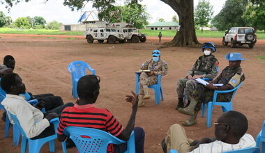 UNMISS protection of civilians united nations un peacekeeping south sudan juba patrol peace healthcare water