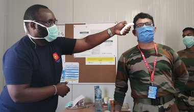 unmiss south sudan nurse ebola covid-19 preparedness social distancing prevention liberia