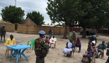unmiss south sudan protection of civilians awareness-raising Bentiu Koch peacekeepers peacekeeping COVID-19 coronavirus