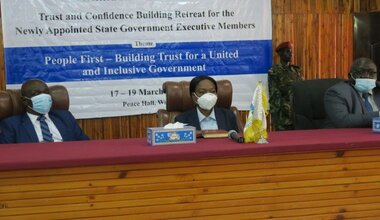 unmiss south sudan wau politicians retreat trust and confidence building revitalized peace agreement lack of female representation