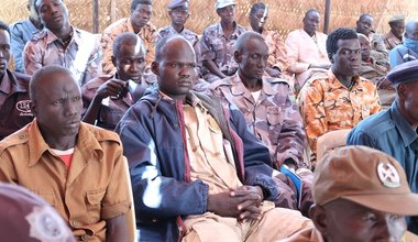 unmiss south sudan workshop training aweil police illiteracy