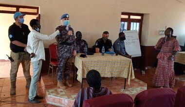 unmiss south sudan wau unpol ssnps police training trust cooperation human rights dignity community policing