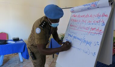 unmiss south sudan aweil unpol raising awareness sanitary pads early forced marriages sexual abuse