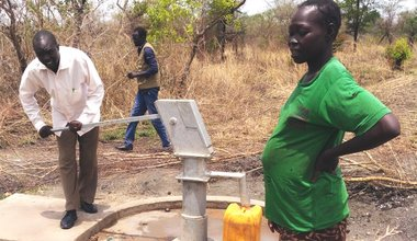 UNMISS gifts new clean water facilities to Ladu community in Juba quick impact project