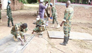 UNMISS South Sudan Peacekeepers Bentiu COVID-19 Coronavirus Peacekeeping Isolation Centre