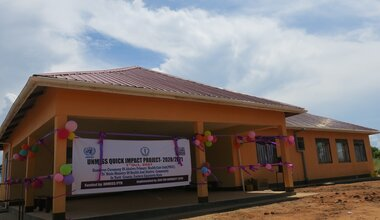 unmiss protection of civilians quick impact projects peacebuilding healthcare maternity eastern equatoria