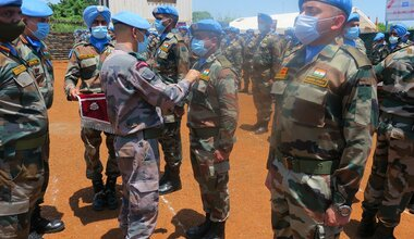 unmiss medal parade serving for peace india south sudan united nations malakal upper nile