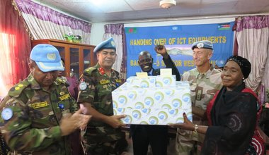 unmiss south sudan wau ssbc bangladeshi peacekeepers donation electronics radio studio equipment