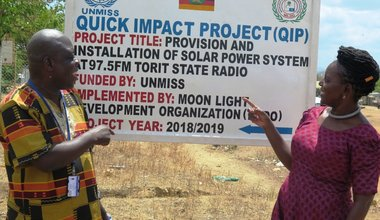 south sudan quick impact project unmiss torit radio station solar panels