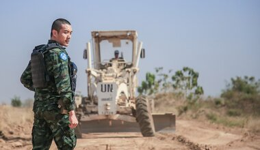 UNMISS protection of civilians protection roads South Sudan peacekeepers International Day of UN Peacekeepers peacekeeping durable peace Thailand