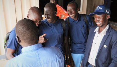 unmiss south sudan bor vocational training centre trainees skills