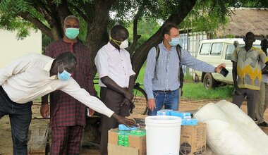 unmiss south sudan torit eastern equatoria covid-19 donation soap buckets
