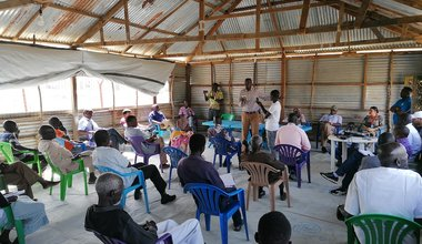 unmiss south sudan malakal protection of civilians site covid-19 coronavirus prevention health experts awareness-raising