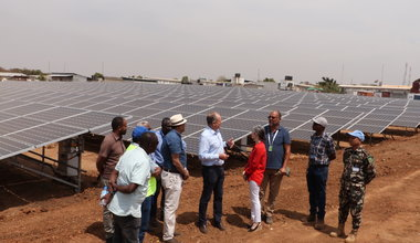 unmiss south sudan juba un house solar panel farm renewable energy reduce ecological footprint fossil fuels generators